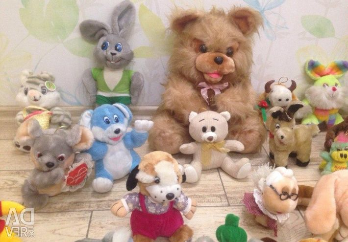 30 soft toys, bears, dogs, cats, rabbits