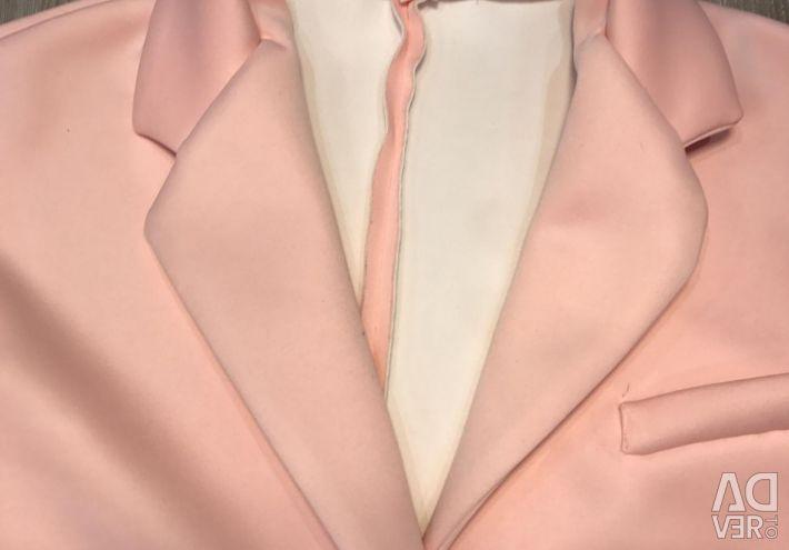 Blazer Neopren Trench Coat ușor Lft