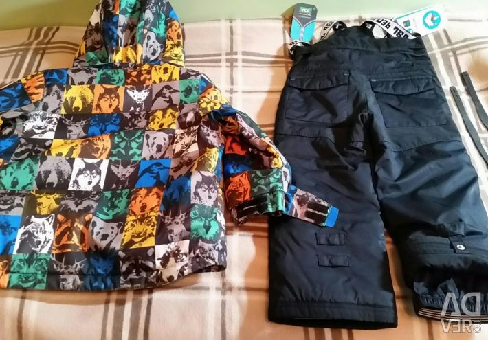 Winter bib overall and jacket
