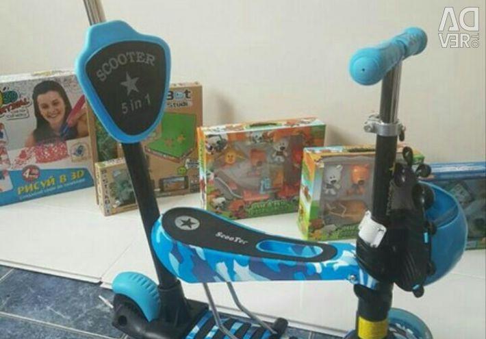 Scooter runbike 5 in 1