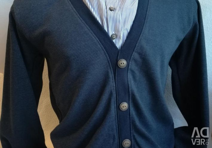 Cardigan with a shirt. New