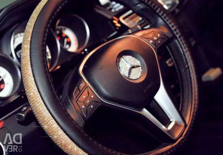 A rudder on the steering wheel