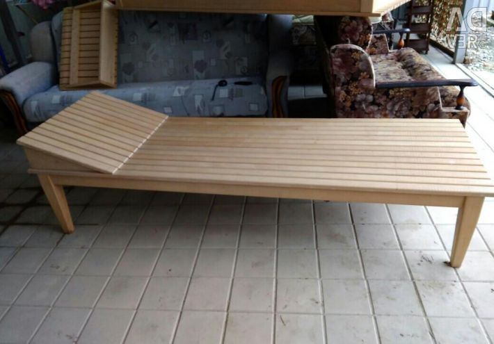 Sunbed, trestle bed (array)