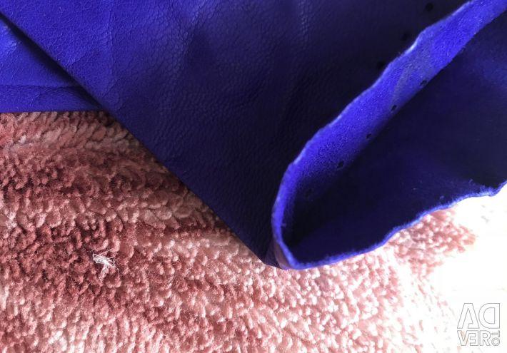 Women's violet gloves, genuine leather