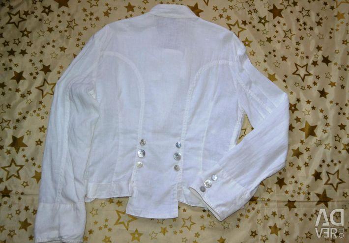 Two white jackets 100% len