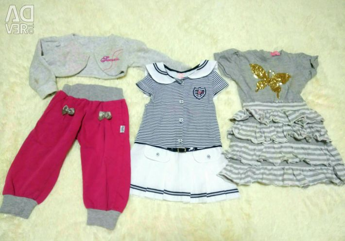 Things for a girl 1-1,5 years dresses