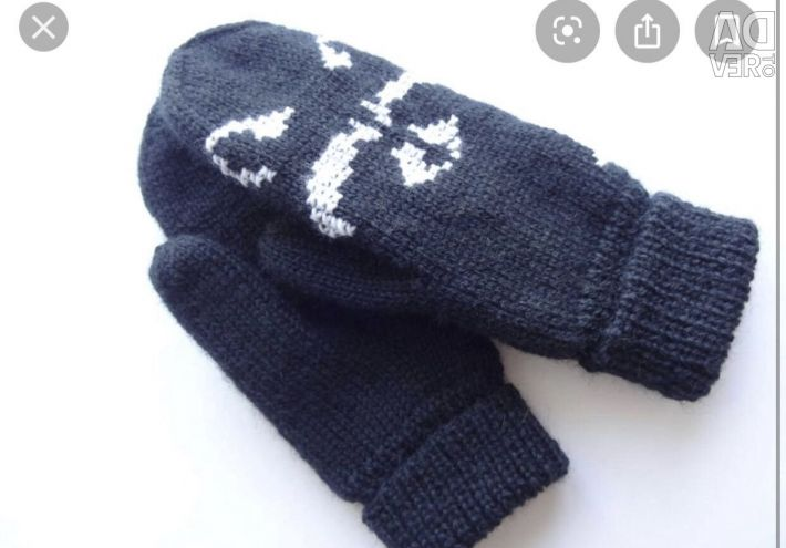 I knit knitted mittens myself