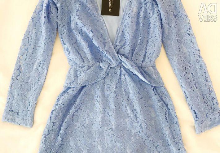 Rochie cu dantelă albastră