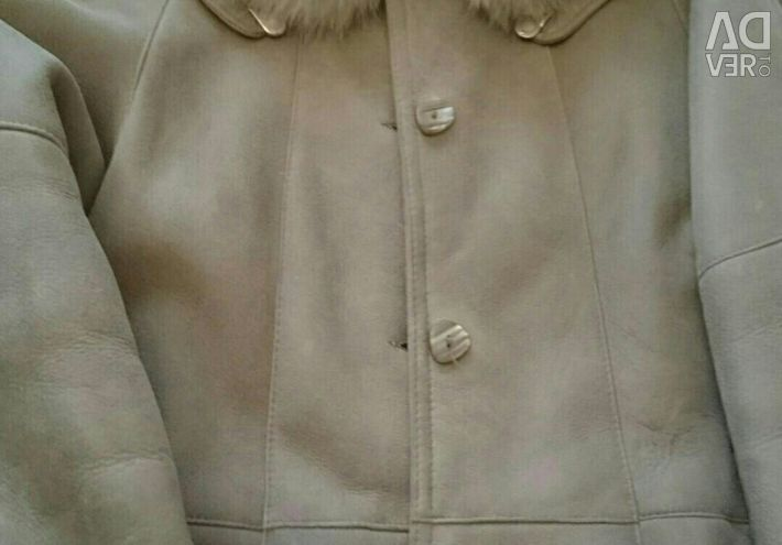 Sheepskin coat long 52-54 size