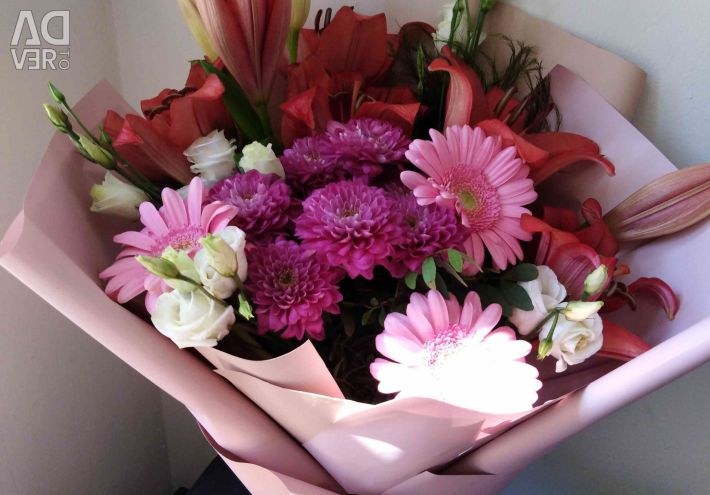 Bouquet in Korean packaging