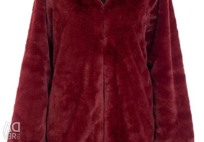 Palton nou din blană ecologică