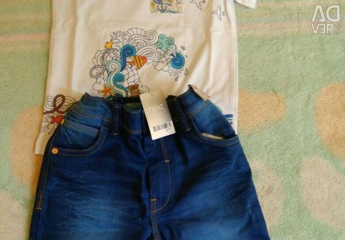T-shirt and shorts