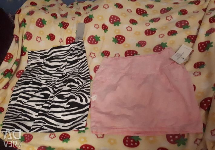 40 size s xs new skirt pink and striped