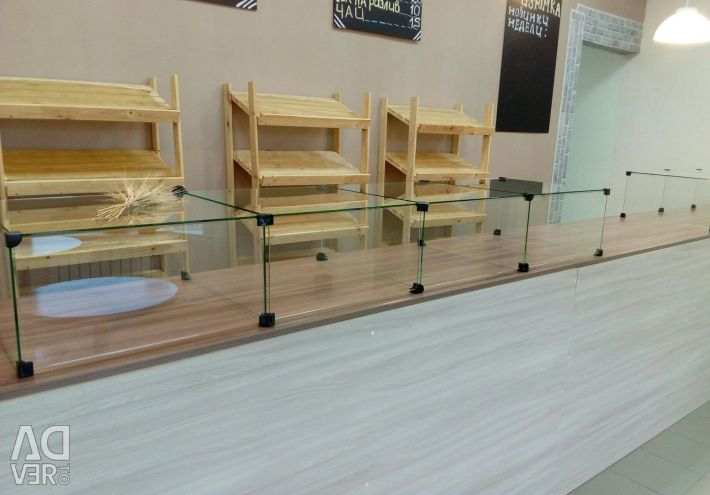 Commercial display case without glass