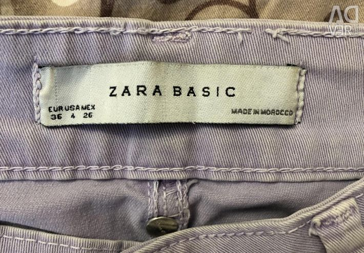Jeans Zara size xs lavender color