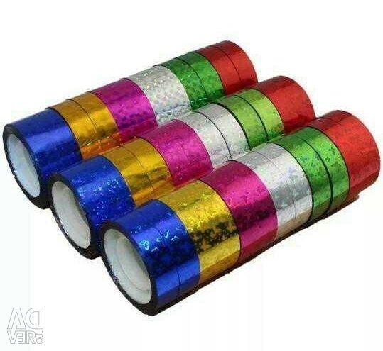 Decorative holographic tape