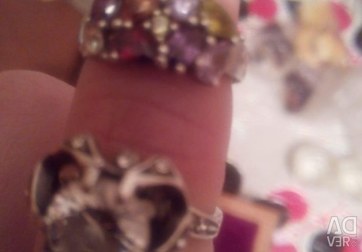 2 silver rings
