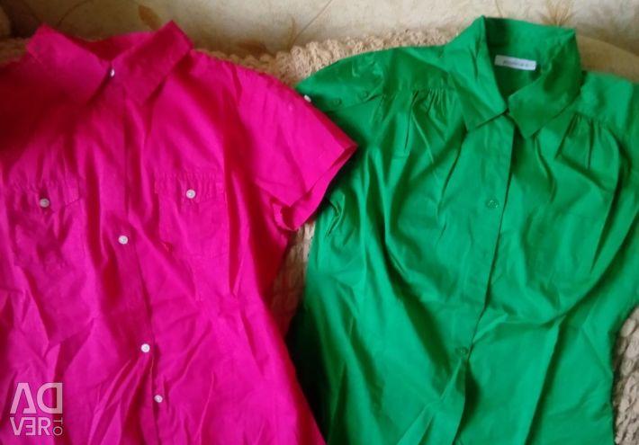 Фирменные!!!две рубашки!