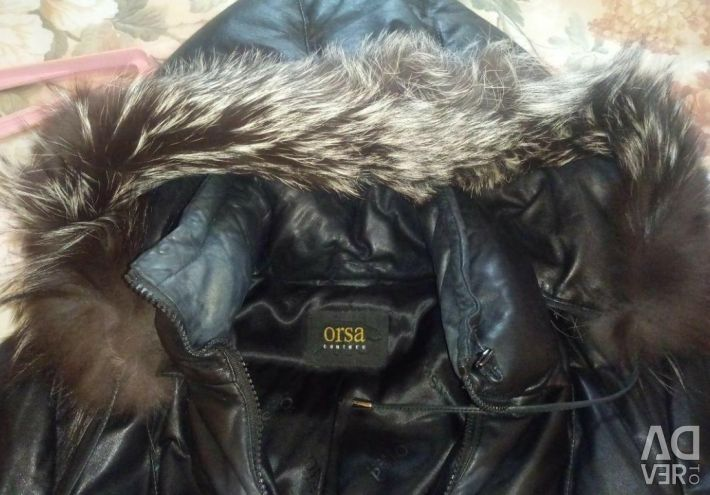 Coat leather ORSA Couture winter