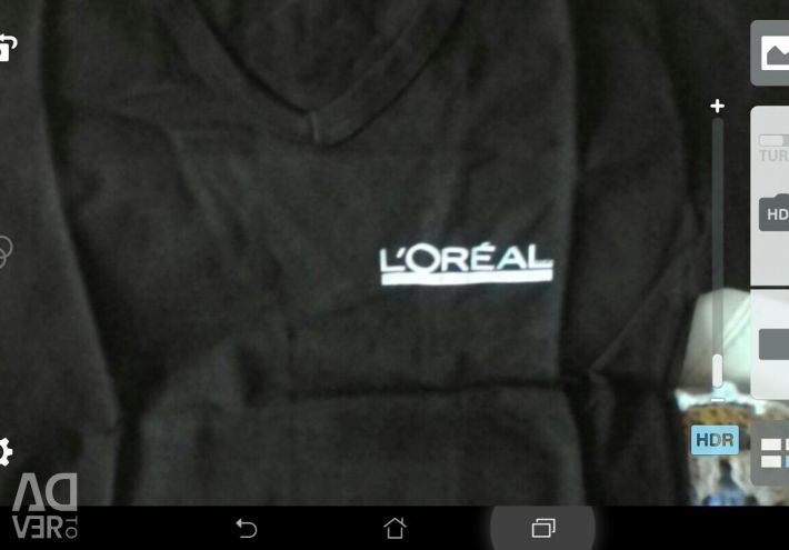 T-shirt black with a logo cotton
