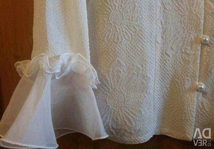 Bluză albă aerisită
