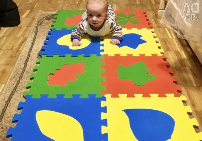 Soft puzzles, floor, 9 pcs.