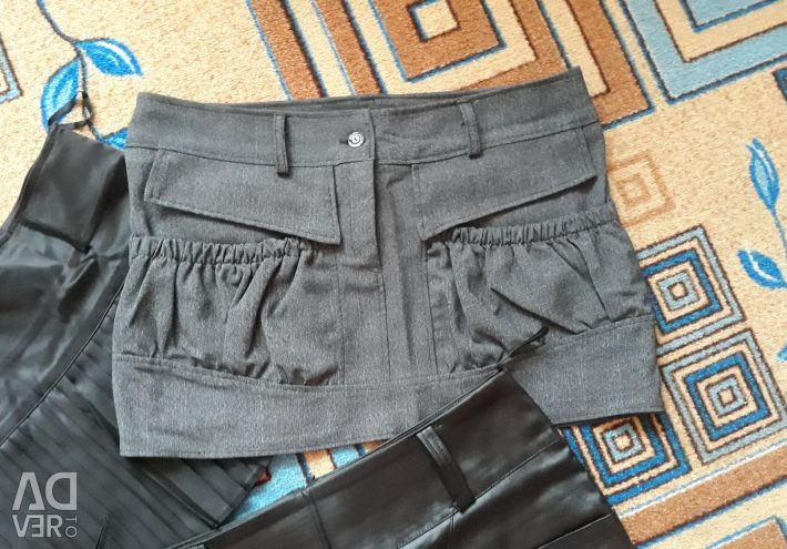 Mini skirts, size 46