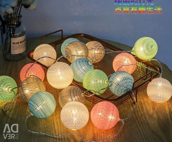 Garland Thai balls, length 3 m, new