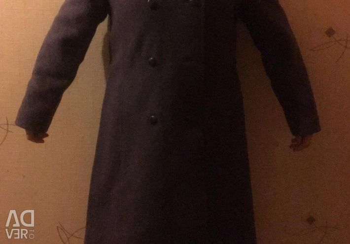 48. Winter coat with a fox collar
