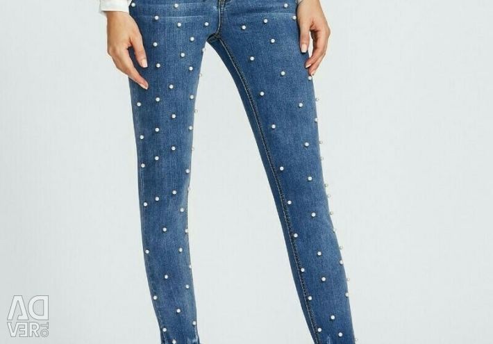 Jeans with beads