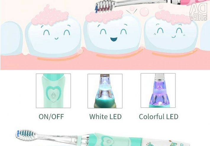 ? Children's Toothbrush Glowing + 3 Nozzles