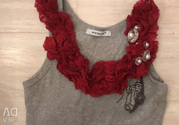 New jersey / top with lace Italy S / M