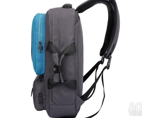 Bag - laptop backpack, 17 inches, blue, new