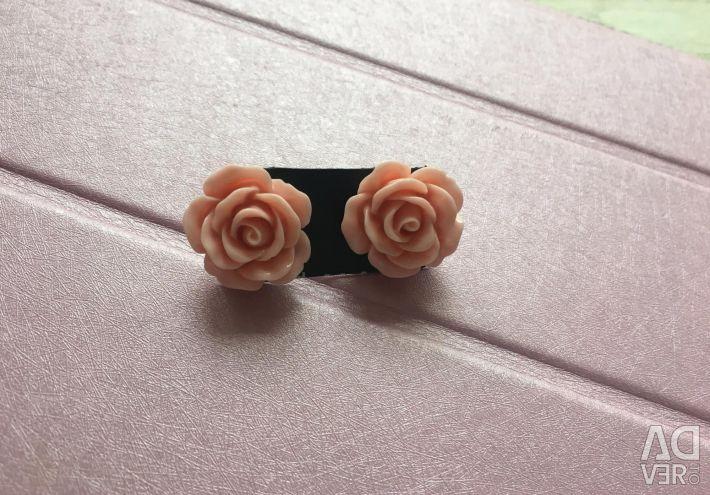 New rose earrings