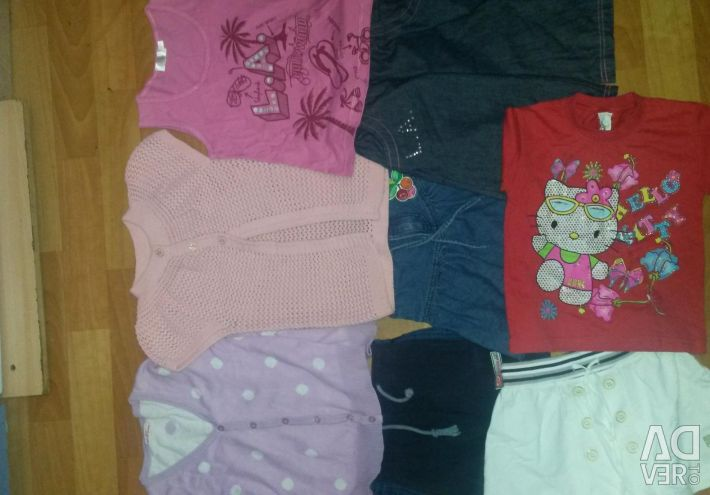 Clothing for a girl on the growth of 116