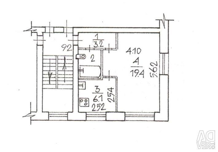 Apartment, 1 room, 31.7 m²