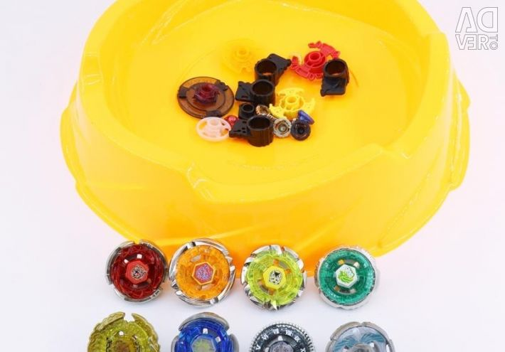 Big and small arenas for Beyblade tops