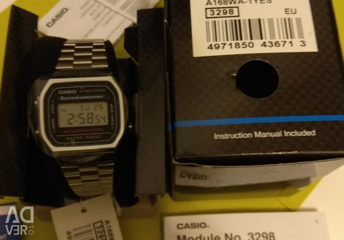 Casio Retro Digital A168WA-1YES Retro Mirror watch