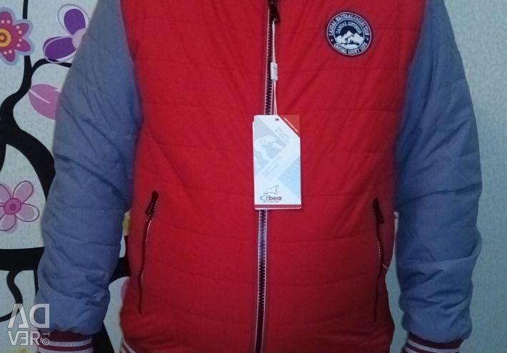 Ceket adamın sezon-sezon kırmızı-gri ICEBear 1