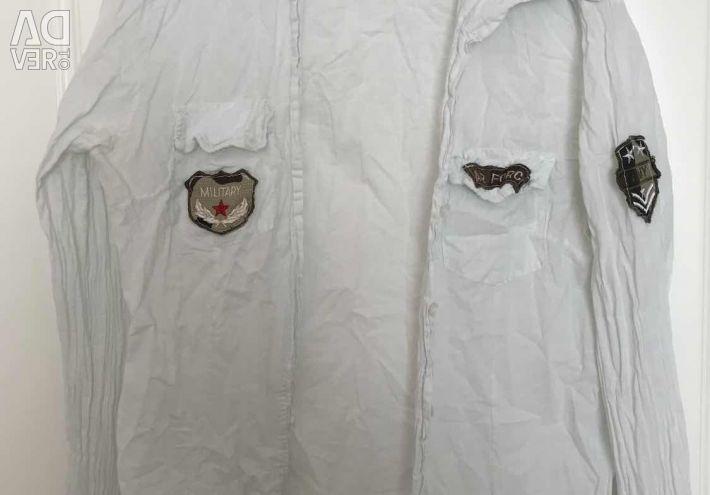Askeri tarzda gömlek (pamuk) İtalya 42/44
