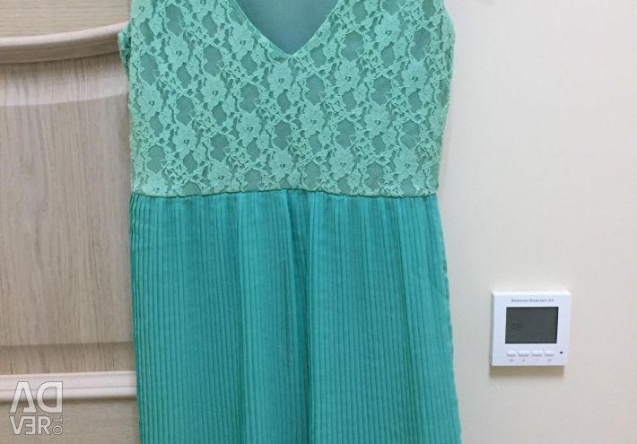Mint color dress