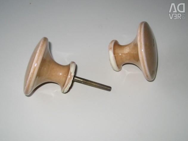 Door handle - 4 pcs. - ceramic marble