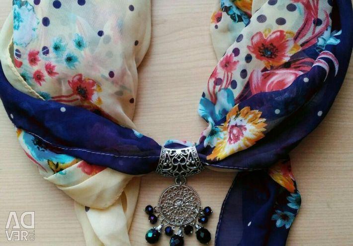 Scarf - decoration, handmade