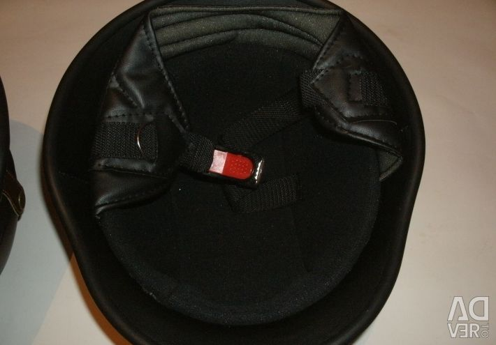 Helmet biker color (black) with glasses,