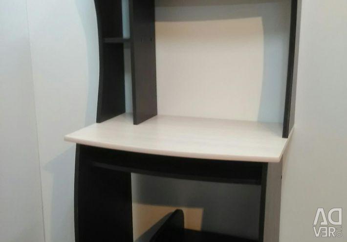 New computer table Oak wenge / milk
