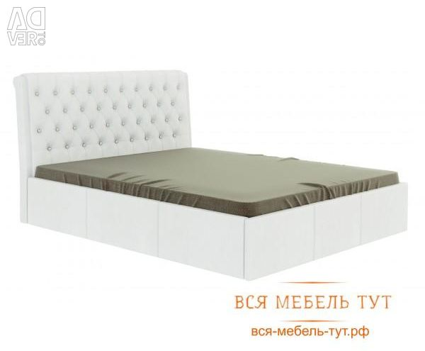 Bed Prima 1.6 with lifting mechanism (white)