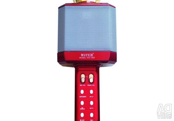 Karaoke mikrofon Wster WS-1828 kırmızı metalik