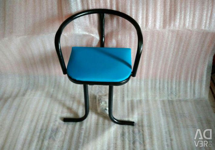Child seat on frame
