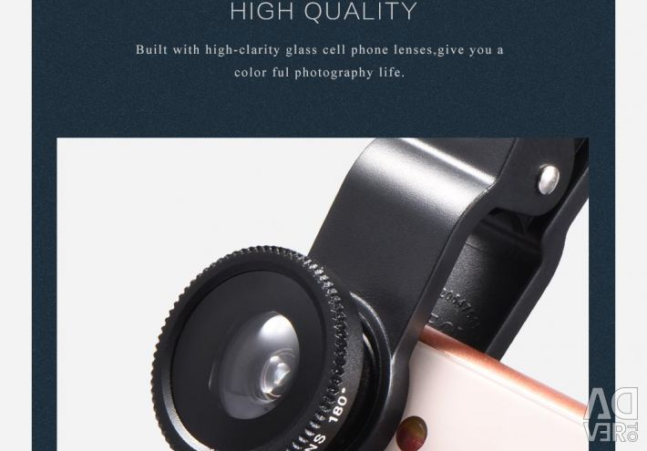 Lenses set 3 in 1 to a photo, cameras, smartphones