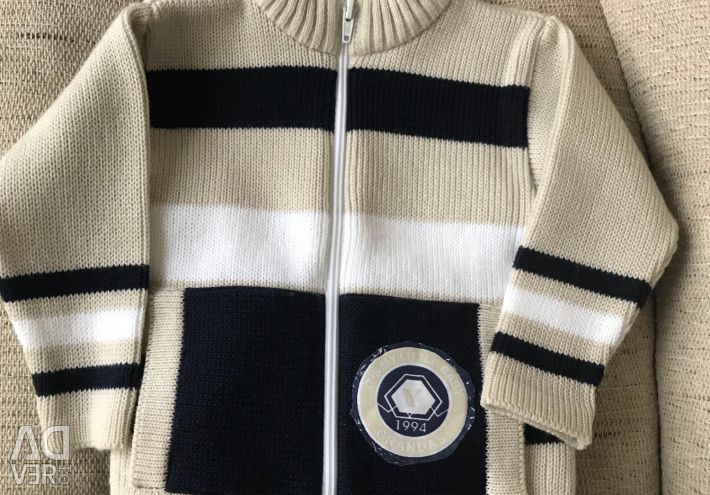 Cardigan + jeans for the boy, 80-92